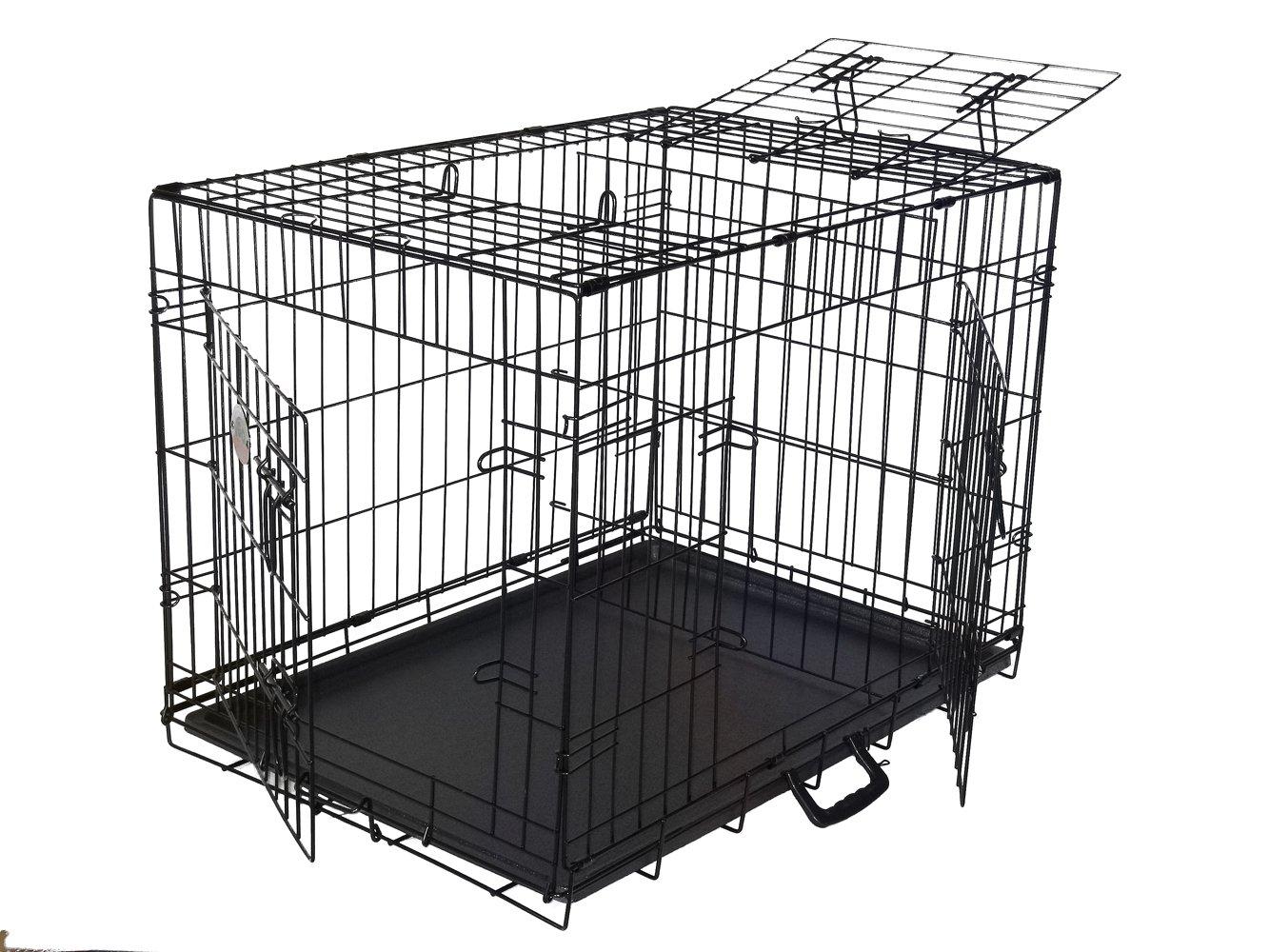 Go Pet Club 3-Door Metal Pet Crate, 48-Inch