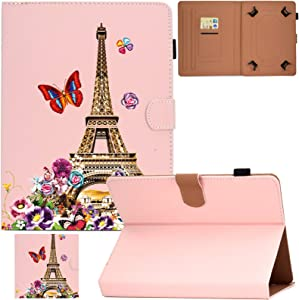 Universal Case For 9.0-10.5 inch Tablet,Artyond PU Leather Card Slot Wallet Folio Stand Cover For Apple/Samsung/Kindle/Huawei/Lenovo/Android/Dragon Touch 9.7 9.6 10.1 10.5 Inch Tablet (Eiffel Tower)