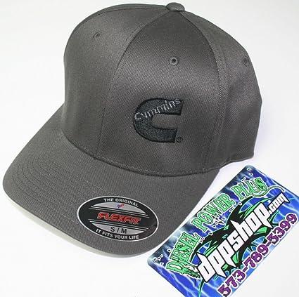 edd3e712dc2 Amazon.com  Cummins hat ball cap fitted flex fit flexfit stretch cummings  dark gray grey s m  Automotive