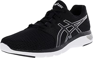 ASICS Mens Gel-Moya Running Sneaker Shoes, BlackBlackSilver, US