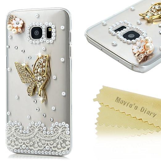 3 opinioni per Custodia per Samsung Galaxy S7 Edge,Cover 3D Cristallo strass- Mavis's Diary