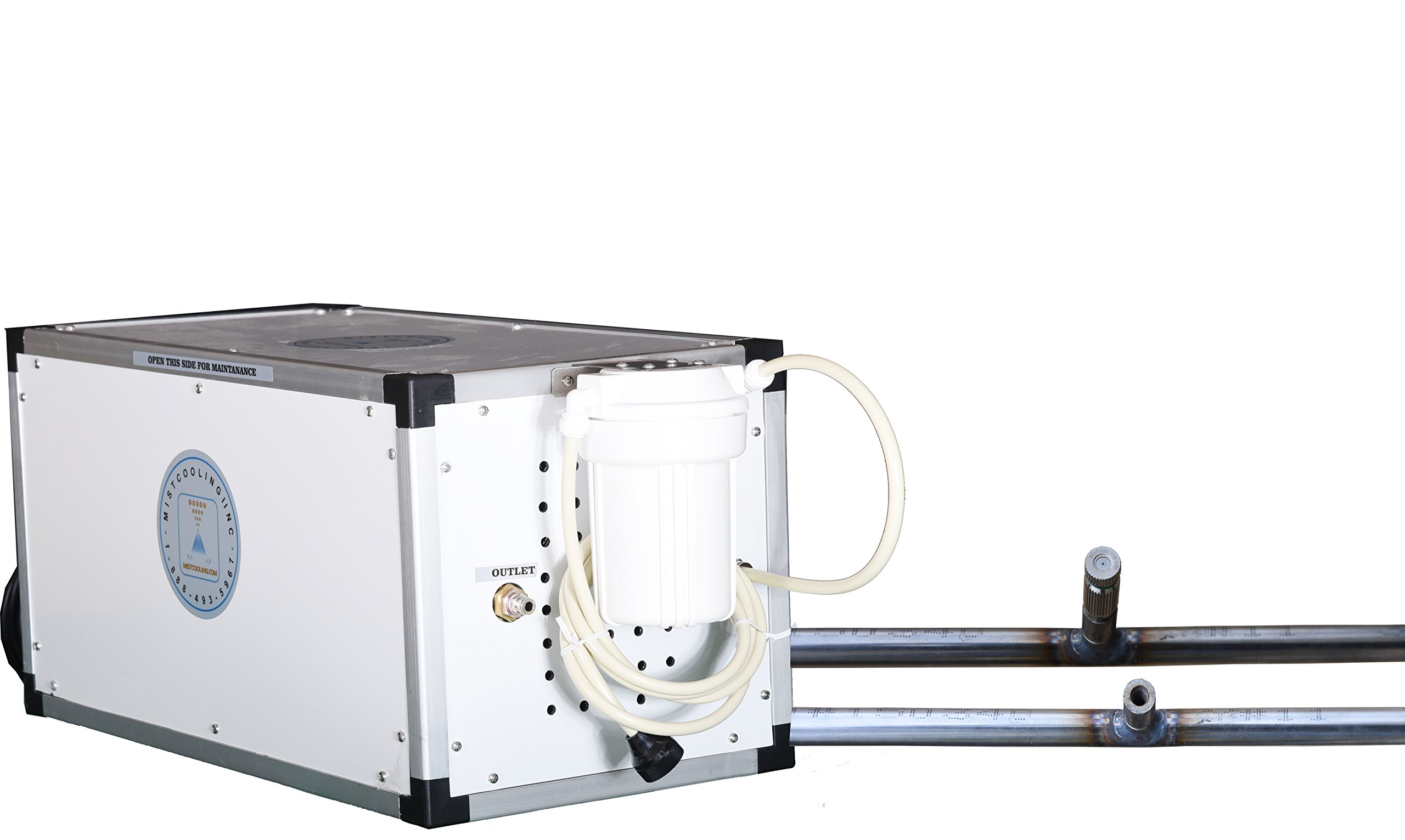 Industrial Misting System - With 1500 PSI High Pressure Pump - 3/8 Inch Stainless Steel Misting Line - For Industrial Cooling, Data Center Cooling (40 Nozzles - 80 Ft 3/8 Stainless Steel Mist Line)
