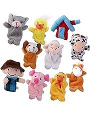 Prettyia Baby Educational Plush Toys Finger Puppets Story Old MacDonald's Farm 10pcs