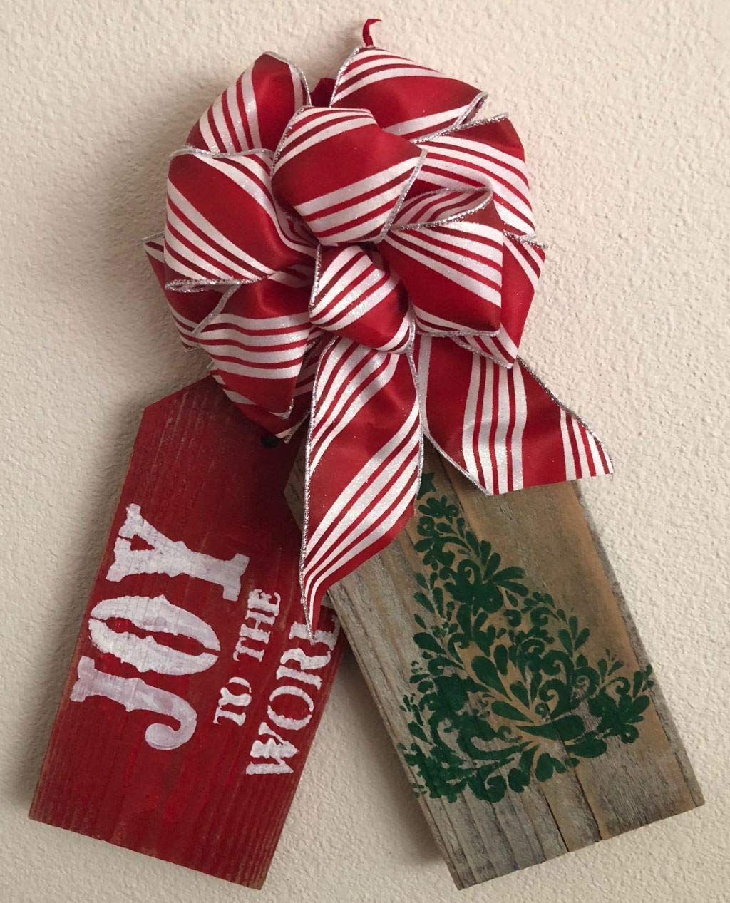 Home Made Joy to The World Door Tags
