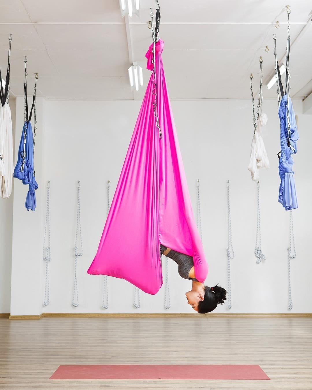 Premium Aerial Yoga hamaca 5,5 metros con Yoga accesorios y ...
