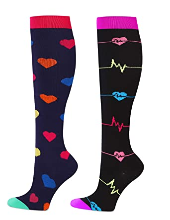 new images of 100% high quality cheapest Women's Moderate Compression Socks for Nurses, Pregnancy, Maternity,  Travel, Sports, Nursing, 15-20 mmHg