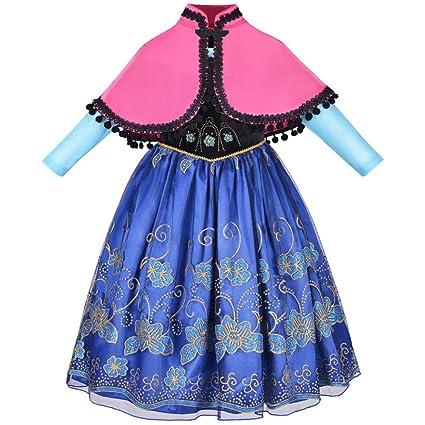 QSEFT Vestidos De Princesa para Niña Disfraz De Princesa para Niños Disfraz  De Princesa Fiesta De da3d43a46b8