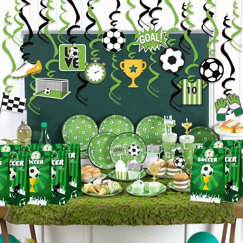 TONIFUL Football Candy Favor Sports Party Bags Goodie Gift Treat Bags for Football Themed Party Ideas Boys Kids Birthday Decoration Supplies