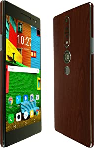 Skinomi Dark Wood Full Body Skin Compatible with Lenovo PHAB 2 Pro (Full Coverage) TechSkin with Anti-Bubble Clear Film Screen Protector