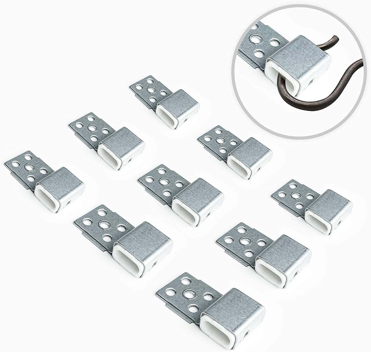 Tuplip Fe Couch Spring Repair Kit(12pcs), Alloy Spring Buckle for Sofa/Chair/Couch/Bed Spring Clips Repair Parts, Upgrade Quality