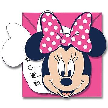 Generique - 6 Tarjetas de invitación con Sobres Minnie ...