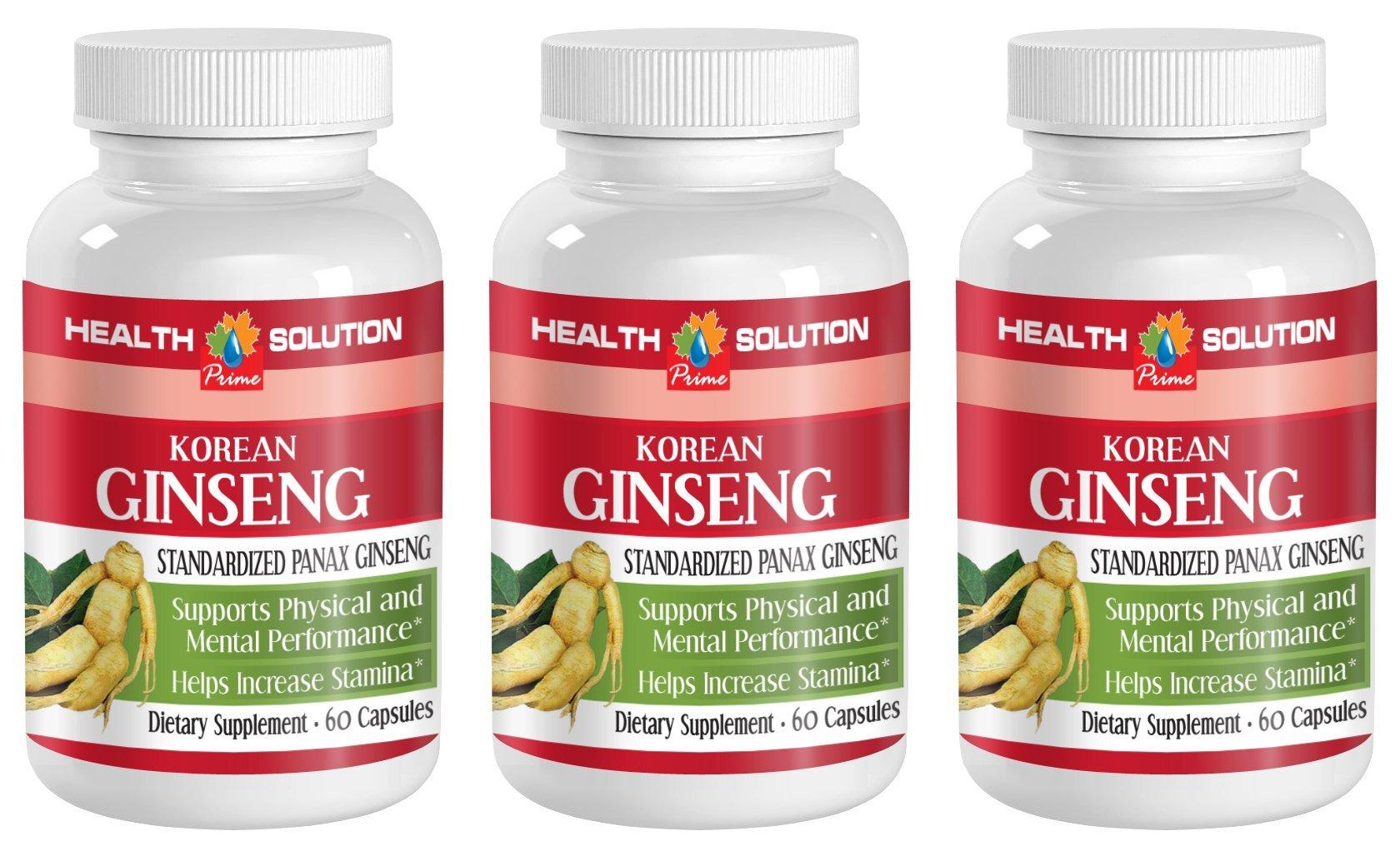 Red panax ginseng - KOREAN GINSENG - increase libido (3 Bottles)