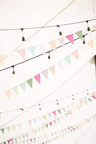 pastel bunting banner by a fte beckons sea glass fabric garland beach bridal shower decorations