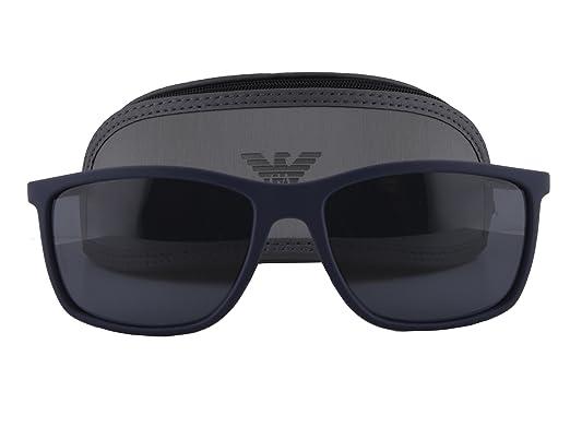 Image Unavailable. Image not available for. Color  Emporio Armani EA 4058  Sunglasses Dark Blue Rubber w Gray Lens 5474 87 EA4058 e0a9ca21b1