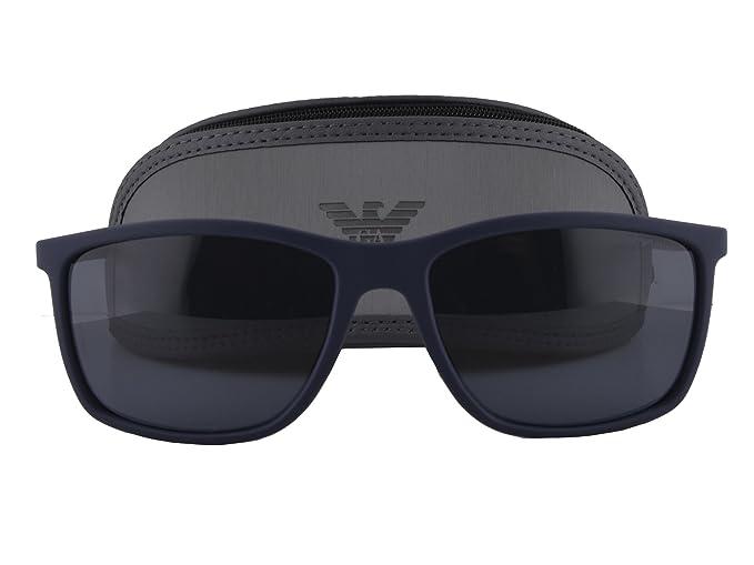 b5f9eb3c0be79 Image Unavailable. Image not available for. Colour  Emporio Armani EA 4058  Sunglasses Dark Blue Rubber w Gray Lens 5474 87 EA4058