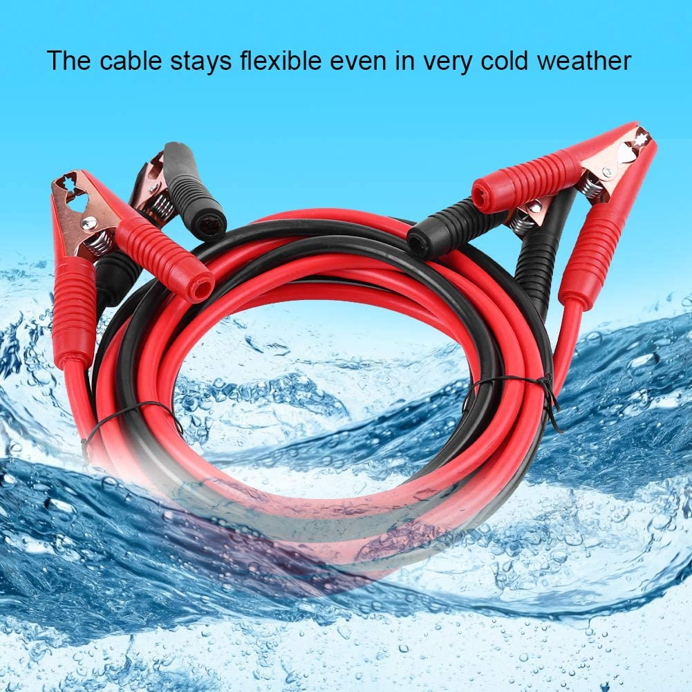 Qiilu Jumper Cables 13-Feet 2200A Commercial Automotive Vehicle Booster Cables 4 Meters Emergency Battery Jumper Starter Booster Clamp Cables