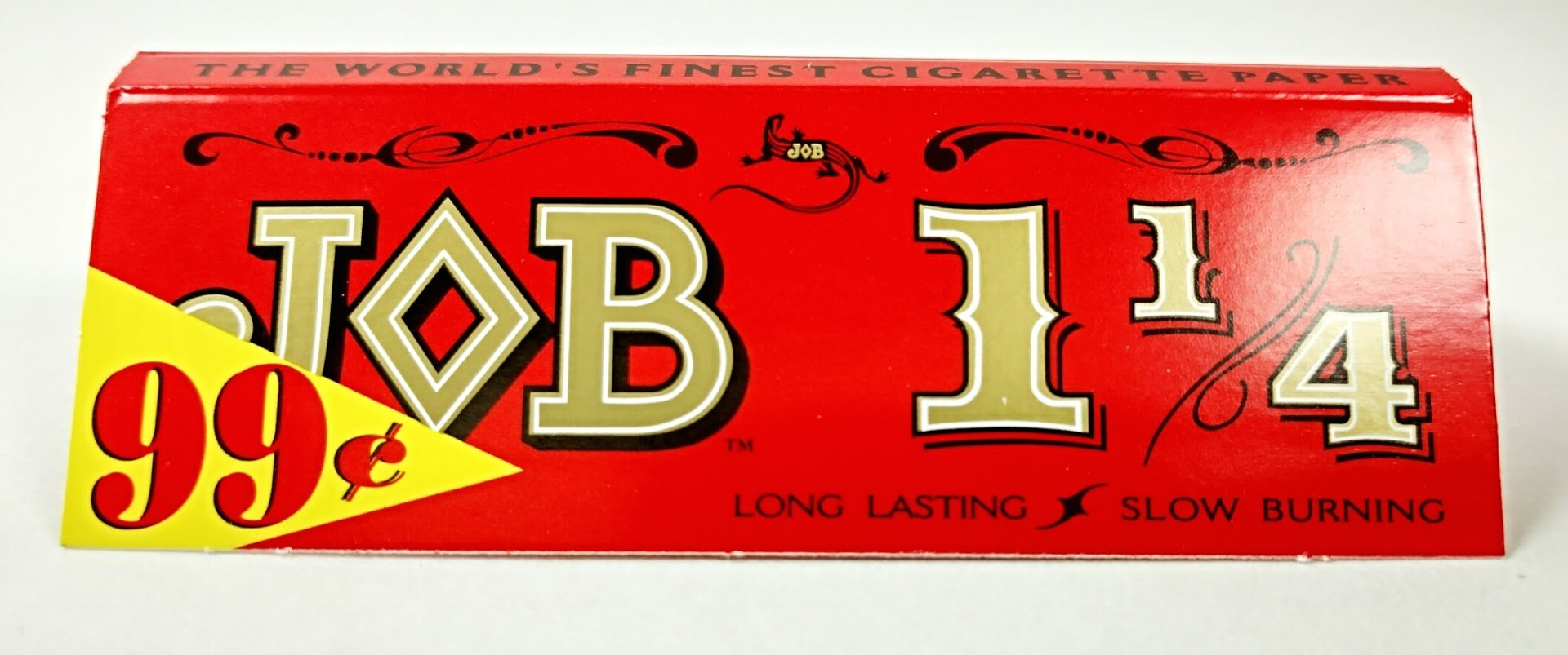 Job 1 1/4 Slow Burning Cigarette Rolling Papers 100 Count Re-usable Tin Jar