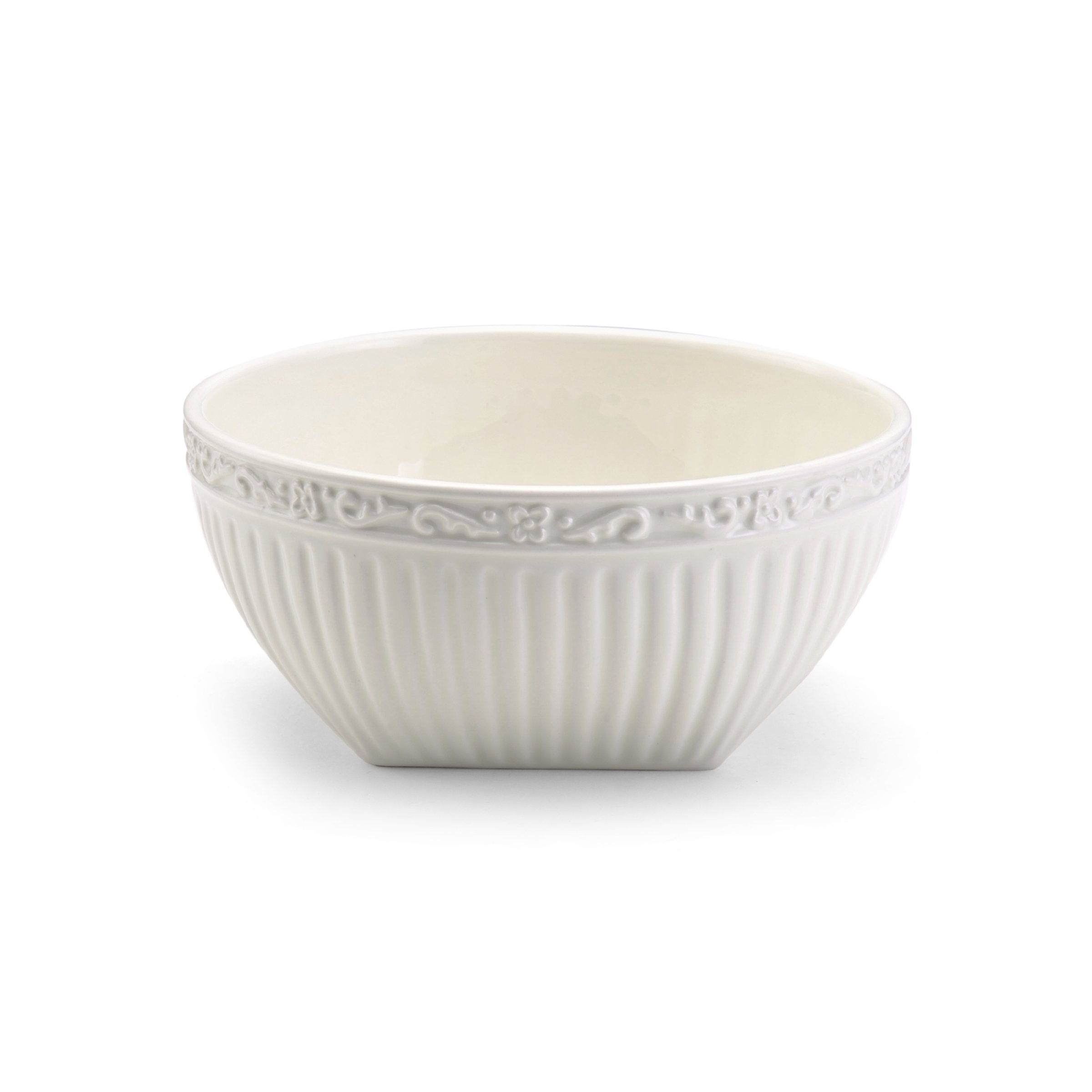 Mikasa Italian Countryside Square Cereal Bowl, 6.25-Inch