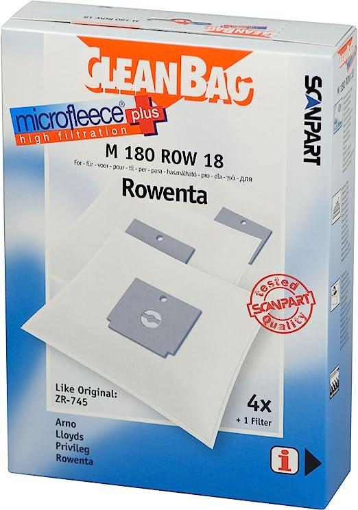 CleanBag M 180 ROW 18 - Bolsas para aspiradoras ZR-745 (4 bolsas ...