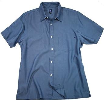 Rusty - Camisa casual - Manga corta - para hombre Azul azul marino Small: Amazon.es: Ropa y accesorios