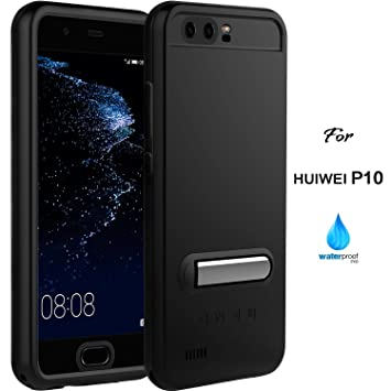 pretty nice 3e666 f4732 Huawei P10 Case, IP68 Waterproof Huawei P10 Accessories by ASAKUKI, Full  Body Case with Screen Protector Shockproof Scratchproof Dustproof for  Huawei ...