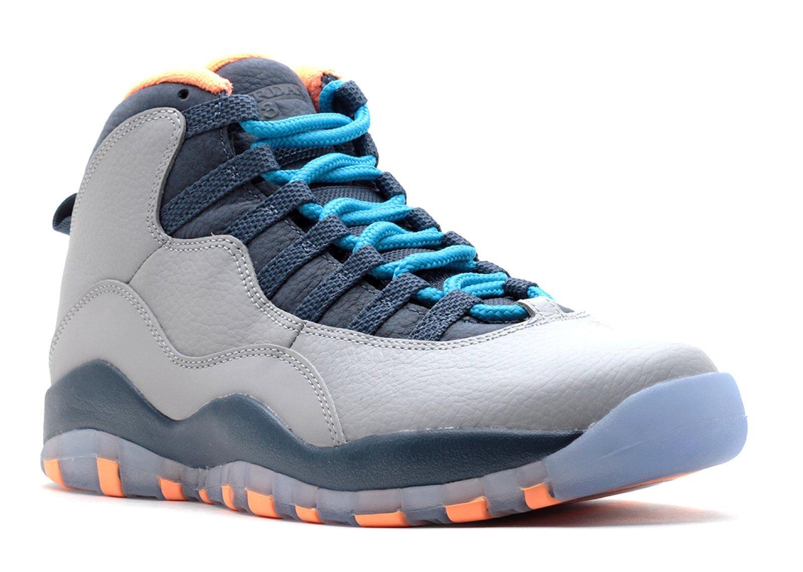 Air Jordan Retro 10 ''Bobcats'' (TD) Baby Toddlers Basketball Shoes Wolf Grey/Dark Powder Blue-New Salt 310808-026 (7.5 M US)
