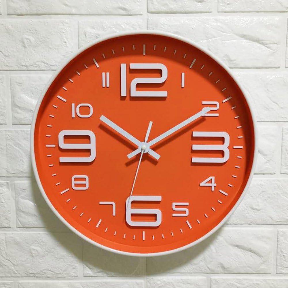 Vinteen Originalidad Reloj de la sala de estar Mudo Batería Hogar Moderno Reloj de pared Atmósfera simple Circular Dormitorio Relojes y relojes (batería no incluida) ( tamaño : Large numbers )