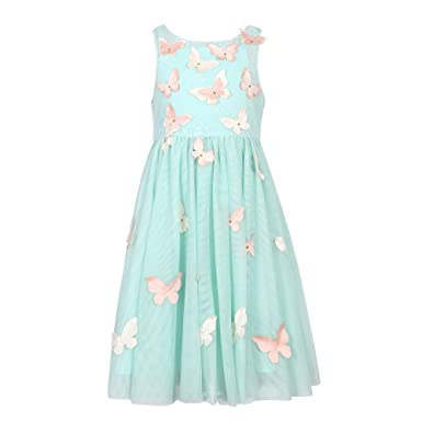 da5e6277f Amazon.com: Richie House Girl's Party Mesh Dress with Butterflies ...