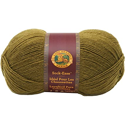 Lion Brand Yarn 240-174F Sock-Ease Yarn, Green Apple