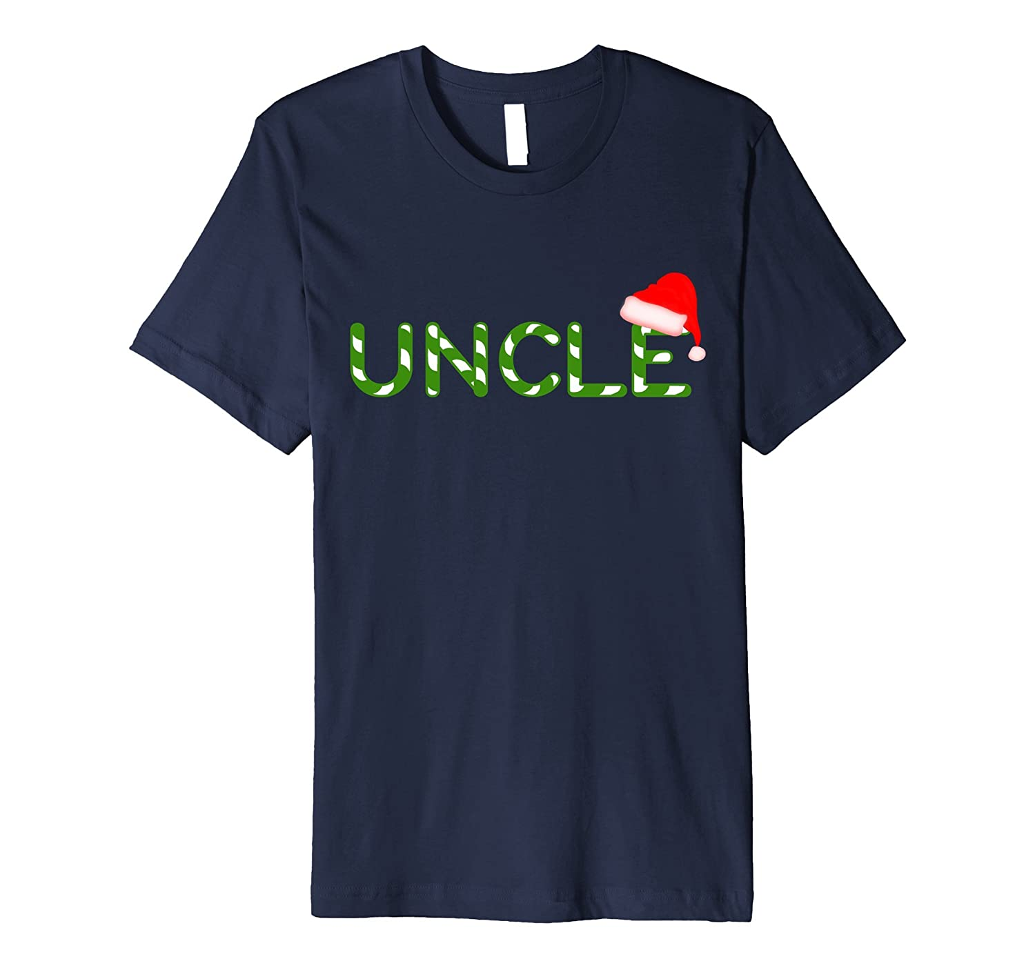 Mens Uncle Christmas Santa Family Matching PJ Candy Cane TShirt-ANZ