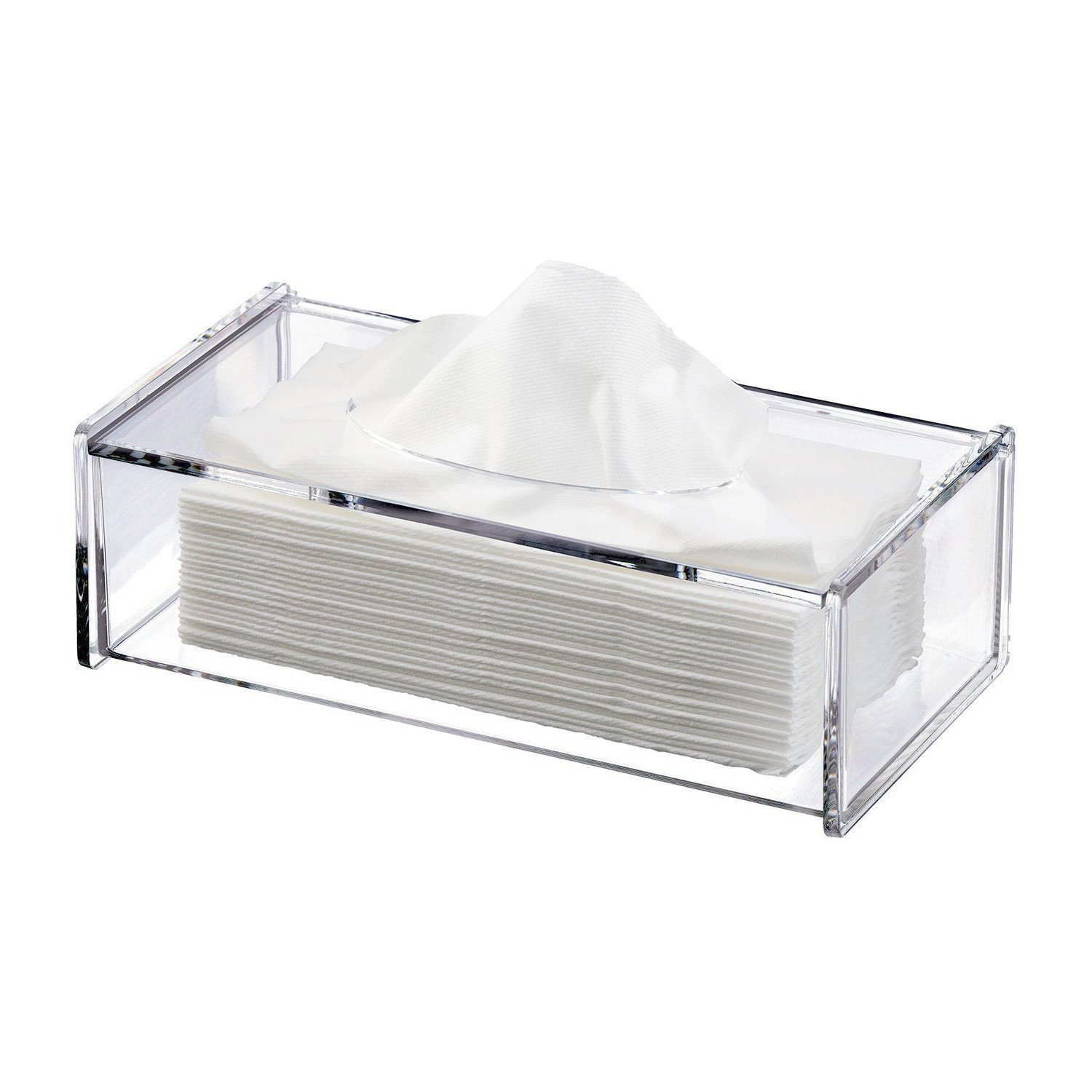Discoball Acrylic Tissue Box Cover Clear Tissue Holder Tissue Dispenser