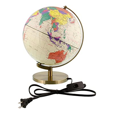 "10"" Inch (25cm) Illuminated Premium Antique Desktop World Earth Globe: Everything Else"