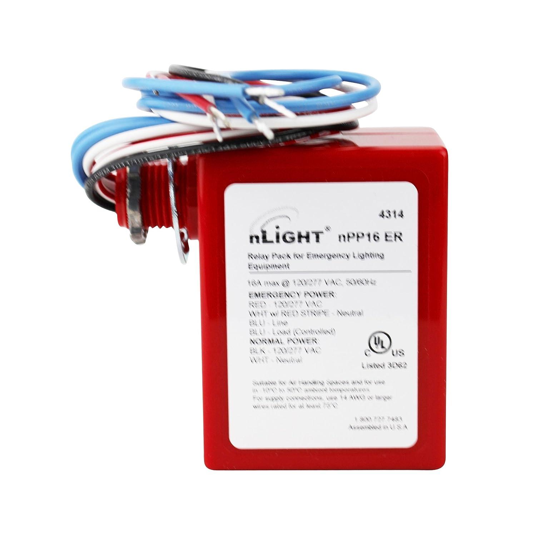 Sensor Switch nLight nPP16-ER 120/277V 50/60Hz Relay Pack Emergency  Lighting - - Amazon.com