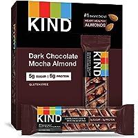 KIND Bars, Dark Chocolate Mocha Almond, Gluten Free, Low Sugar, 1.4 Ounce, 12 Count