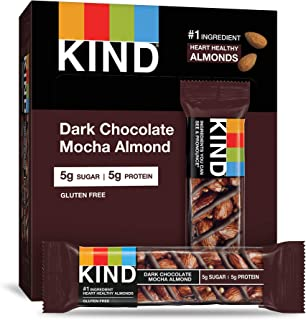 product image for KIND Bars, Dark Chocolate Mocha Almond, Gluten Free, Low Sugar, 1.4oz, 4 Count (Pack of 12)