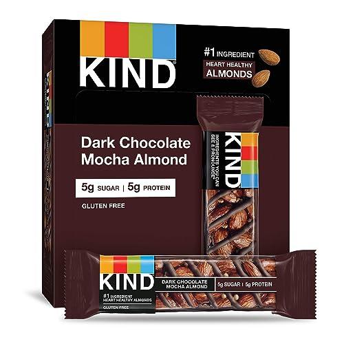 KIND Bars, Dark Chocolate Mocha Almond, Gluten Free, Low Sugar