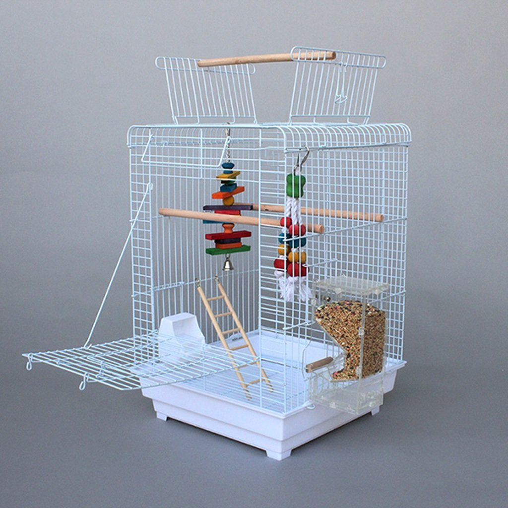 White JUEJIDP Open practical bird cage large parred cage monk small sun cage (color   White)