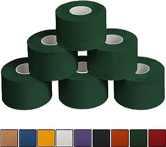 ALPIDEX 6 x Cinta Adhesiva Deportiva 3,8 cm x 10 m, Color:Verde ...
