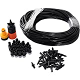 theBlueStone DIY 25M 25Nozzles Misting System Kit for Outdoor Patio Garden Greenhouse Automatic Watering Irrigation Reptile Mosquito Prevent