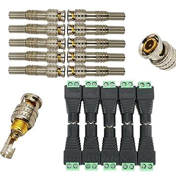 igreeman 20 unidades vídeo conector de alimentación Combo incluye ...