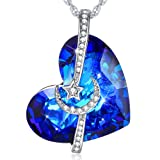 Amazon Price History for:I Love You to the Moon and Back Swarovski Element Crystal Love Heart Necklace for Girlfriend Women