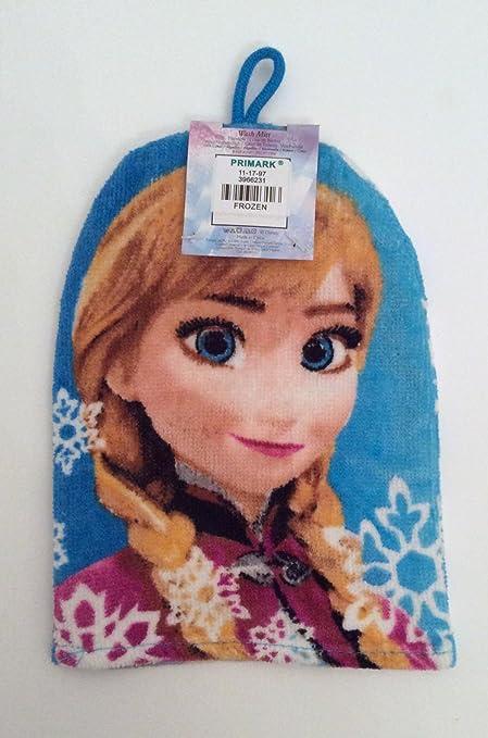 Disney Frozen Elsa & y Anna baño ducha toalla Manopla con trabilla para colgar.: Amazon.es: Hogar