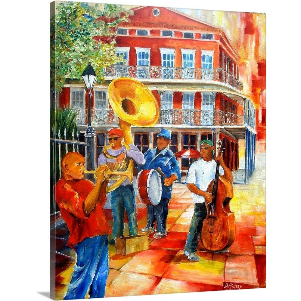 ダイアンミルサッププレミアムシックラップキャンバス壁アート印刷題名Jackson Square Brass Band 11