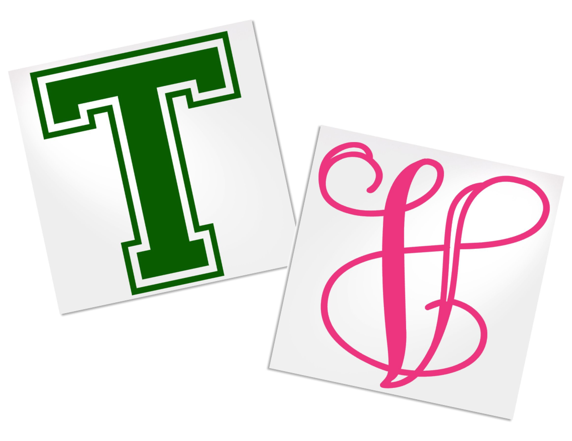 Single Letter Decal for Tumbler, Your Choice of Color & Style | Decals by ADavis by Decals by ADavis (Image #1)