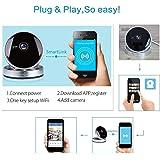 720P HD WIFI Surveillance IP Camera Motion Alarm Detection sd card input Night Vision Mini Design