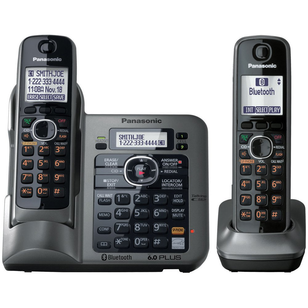 Panasonic Kx Tg7643m Dect 60 Link To Cell Bluetooth Jack Wiring For Phone In Addition How Install A New Line From Cordless With 3 Handsets Telephones Office Products