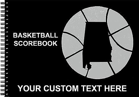 40 Games Hardwood Texas Basketball Scorebook 14 Colors Your State Logo - Alabama