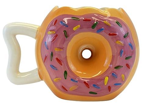 e5f984a3b01 Amazon.com : Donut Shape Novelty Doughnut Coffee Mug : Sports & Outdoors