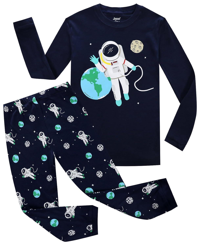 Joyond Little Boys Pajamas Set Dinosaur Kids 100% Cotton Sleepwears Long Sleeve Clothes Toddler PJS Set Size 18M-10T