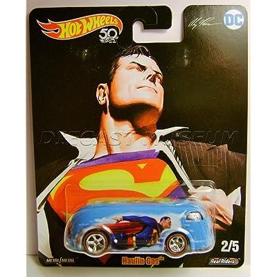 HAULIN GAS SUPERMAN ALEX ROSS DC COMICS RR HOT WHEELS DIECAST